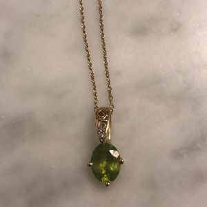 Jewelry - 14 KT Yellow Gold Peridot Necklace And Ring